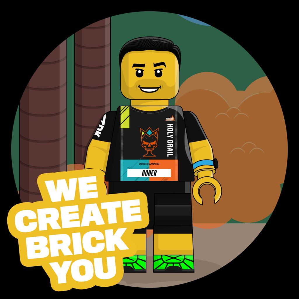 We create Brick you - picture of a completed BrickRunner